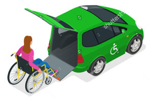 Wheel Chair Car Icon