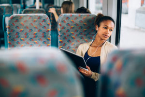 Girl on Public Bus