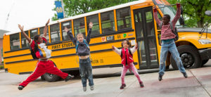Kids Jump In Front of Bus
