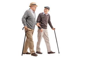 Elderly Men Walking