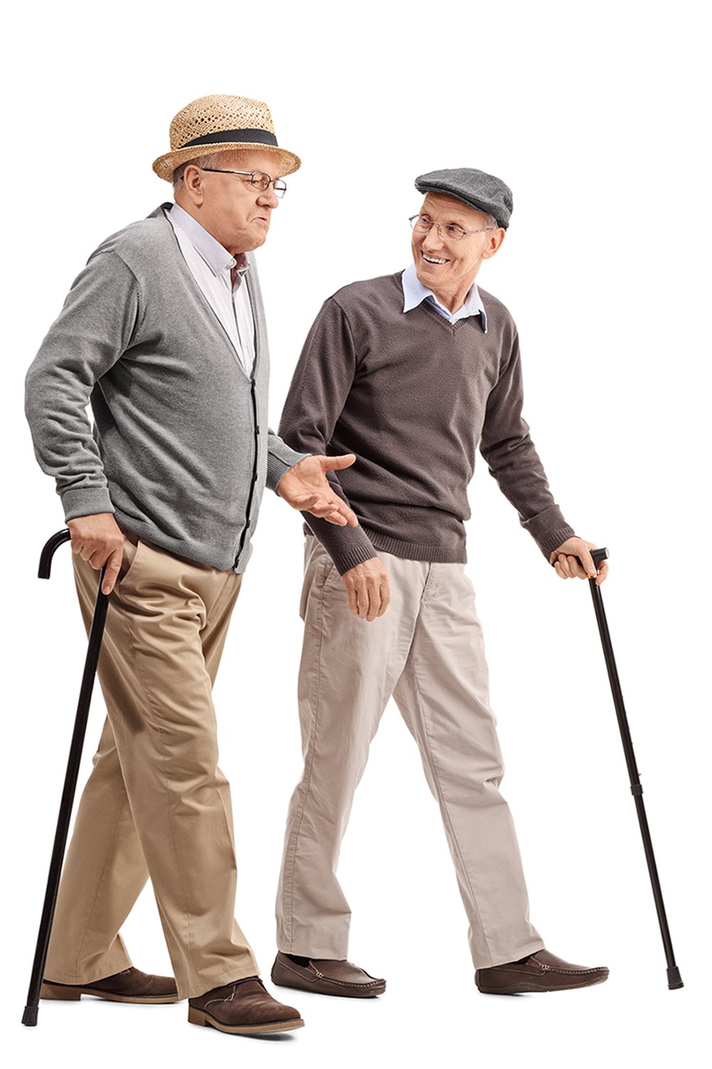 Elderly Men Walking